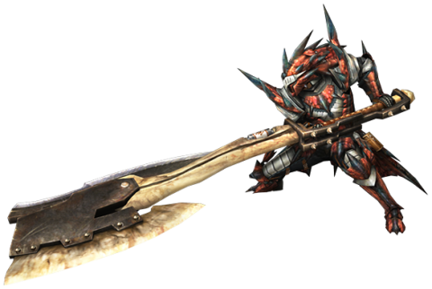 The switch axe can transform from and axe into a great sword