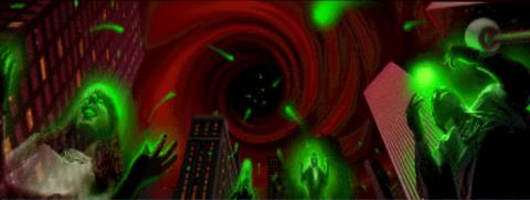 Shao Kahn stealing Earth's souls