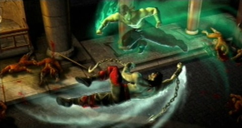 Liu Kang does battle with himself.