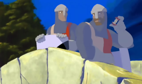 Missions sometimes feature brief animated cutscenes made by Canuck Creations, Inc.
