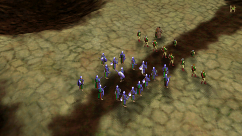 As these Warriors illustrate, Myth frequently has trouble arranging units in tight formation.