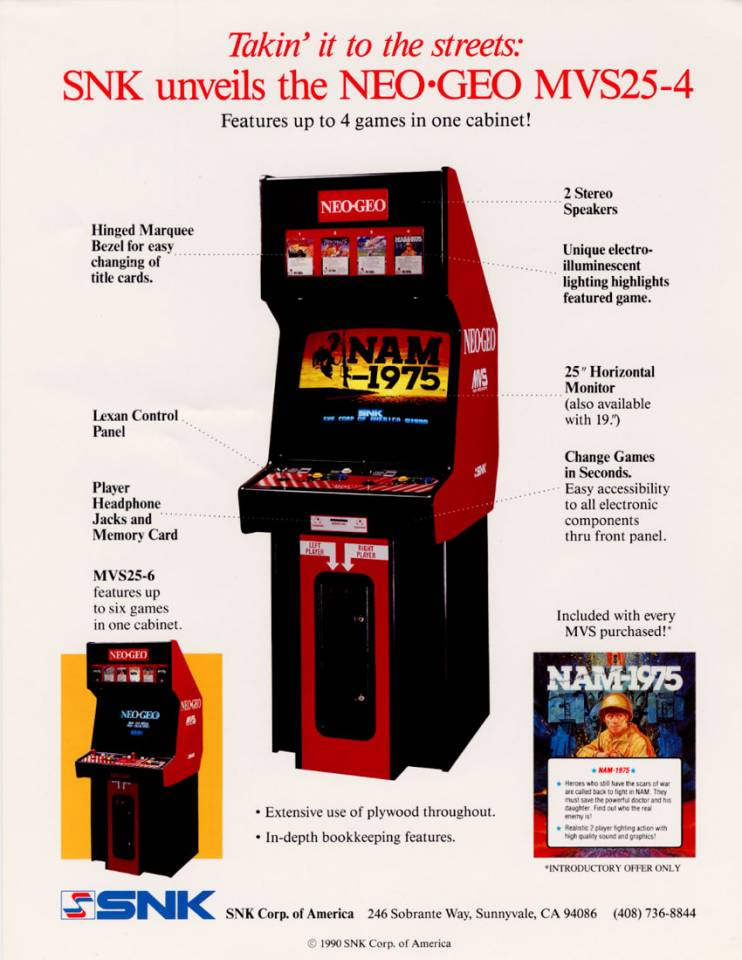 Flyer for the MVS Arcade Cabinet