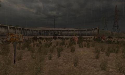 Helipad, minefield and Stingray 1
