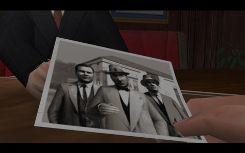 Tommy shows Norman a photo with Don Peppone