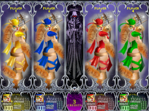 Costumes available to the Tigress.