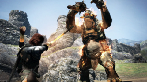 The game is at its best when fighting and climbing beasts.