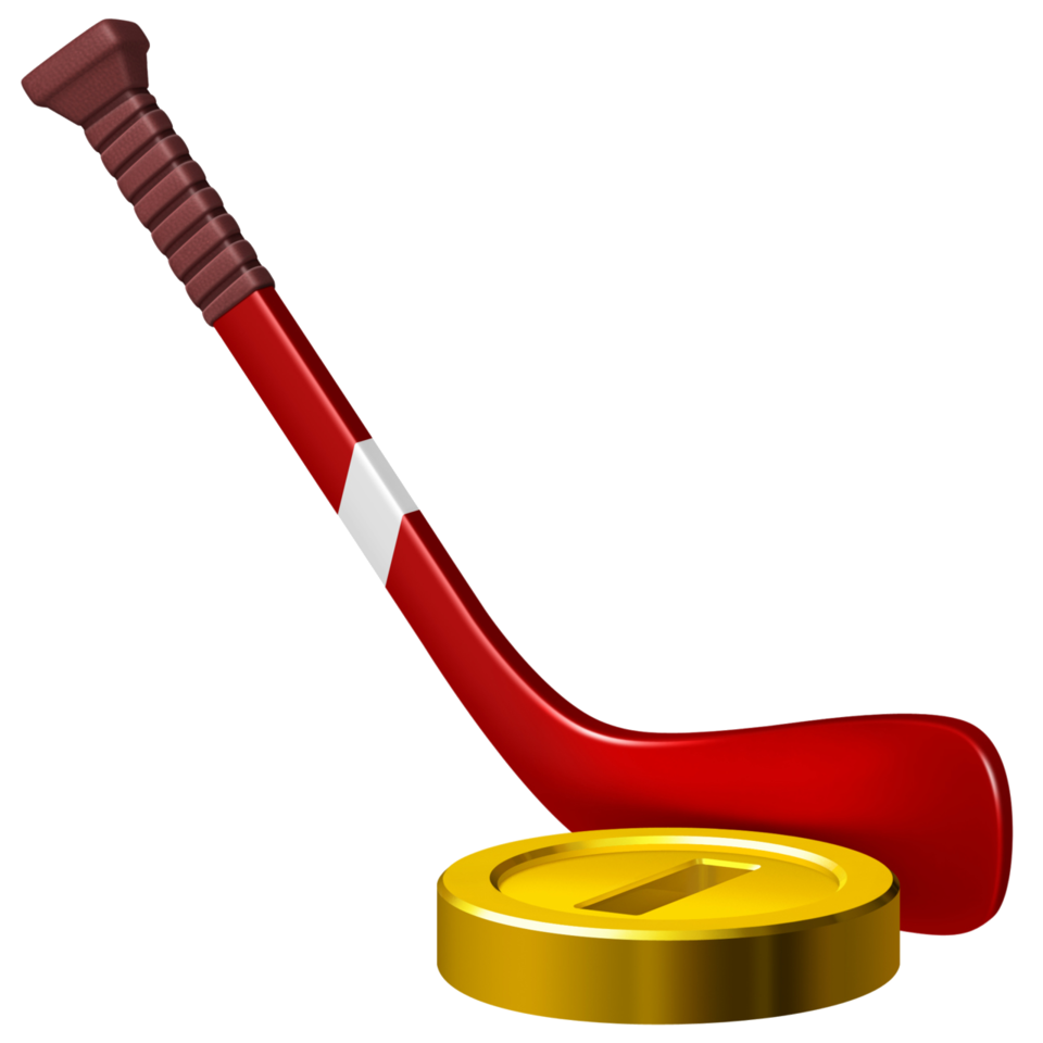 The puck as a coin in Mario Sports Mix.