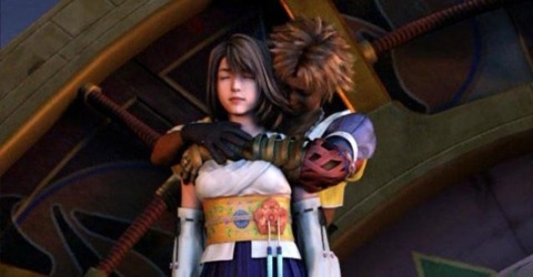 Tidus and Yuna's final embrace