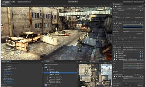 The Unity Engine is built around the idea of attaching components to objects in the world to adjust their behavior, whether it be giving the player control over them to adding complicated AI