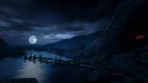 A shot from Dear Esther, included here simply so I could tell you to go on Steam and buy it.