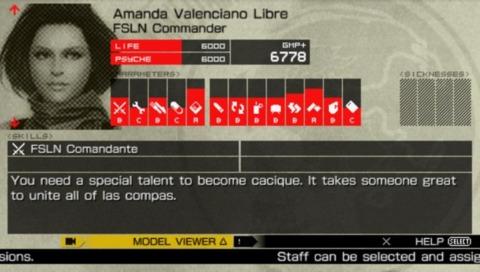 Amanda's Mother Base Profile