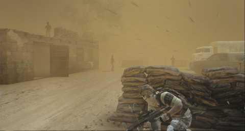 Alternate vision modes make this sandstorm no problem at all.
