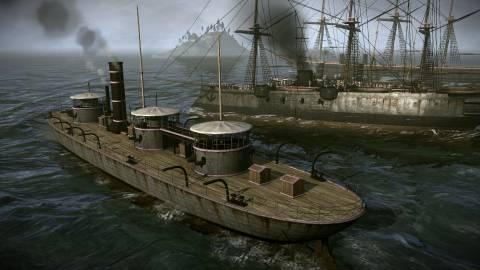 The 19th Century brings new technology like steam-powered warships