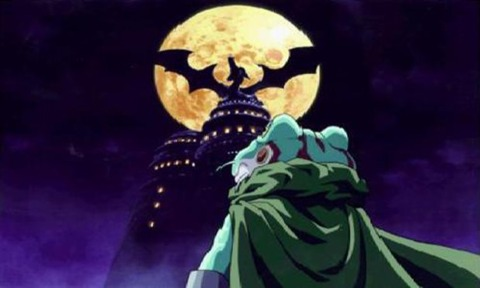 Frog staring off at the peak of Magus' castle, moments before entering.