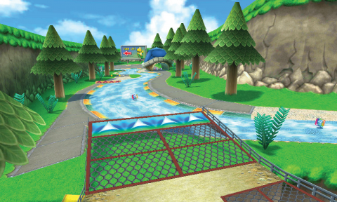 The course as it returns in Mario Kart 7.
