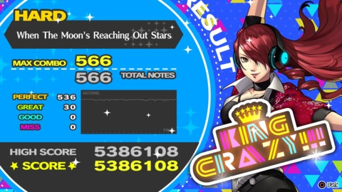 The timeline on the results screen is useful for showing off where in the song the player might have made mistakes.