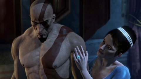Well-rendered Kratos is equally disappointed.