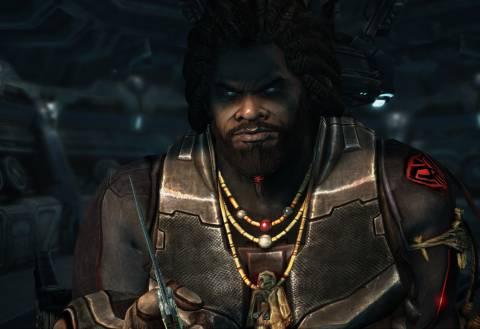 In-game shot of Gabriel Tosh.