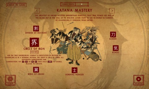 Powers are varied and range from magical attack to new katana techniques