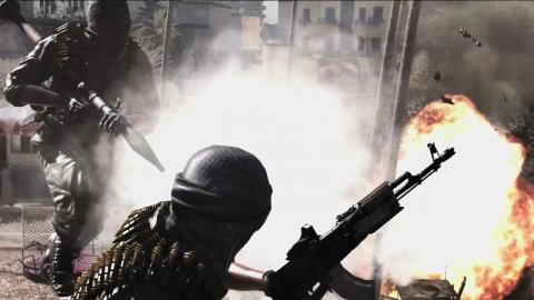 Insurgents taking fire