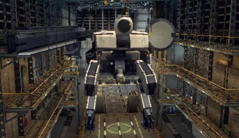 Metal Gear ZEKE, in hangar at Mother Base.
