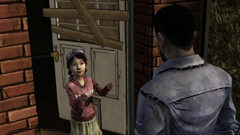 Clementine uses her small size to the group's advantage.