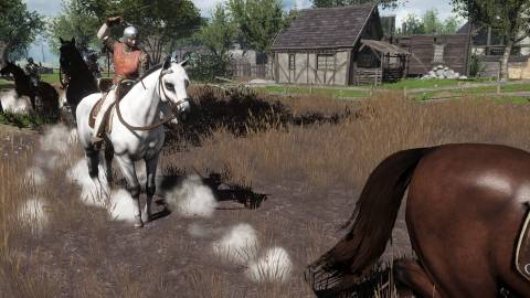Player engaged in mounted combat.