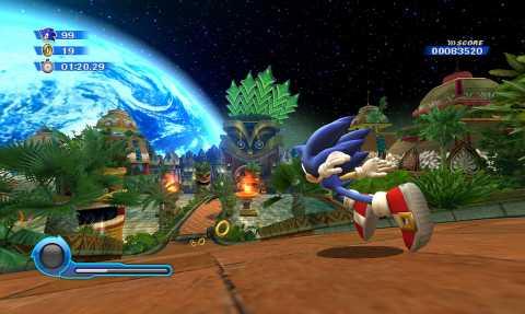 Sonic explores Tropical Resort.