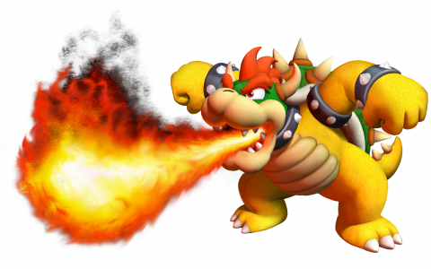Bowser's trademark fire breath attack from the Mario franchise. Fried enemies, anyone?