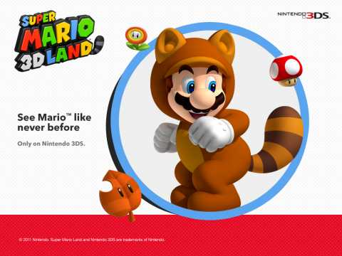 The Tanooki Suit as seen in Super Mario 3D Land.