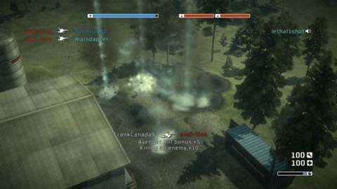 The usual outcome of an artillery strike in Battlefield: Bad Company
