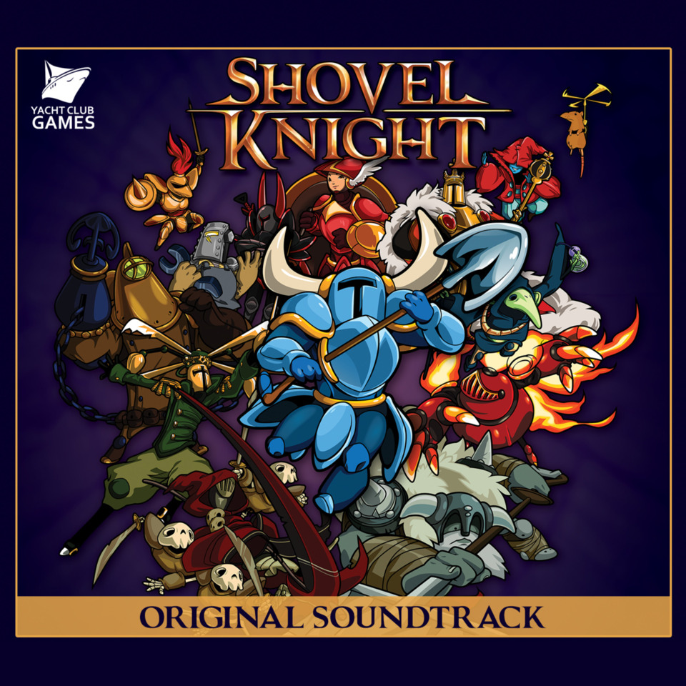 The Front Cover of the Shovel Knight Original Soundtrack.