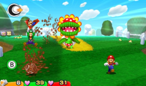 Paper Mario becomes a lifeline for the brothers during a variety of enemy attacks.