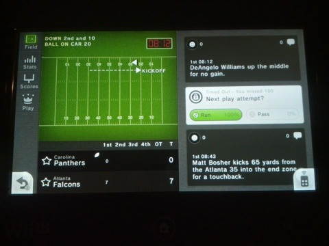 Real-time sports tracking for an NFL game
