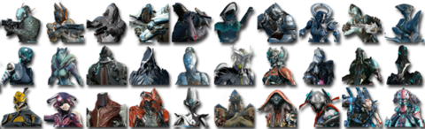 Current Warframe lineup as of Update 19.