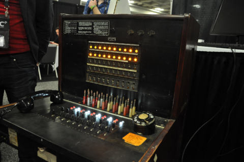 Hello Operator is played on an actual vintage telephone switchboard from 1927.
