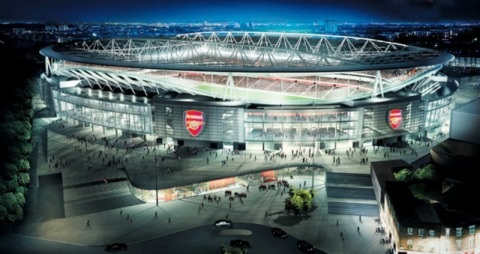 Emirates Stadium, the new home of Arsenal.