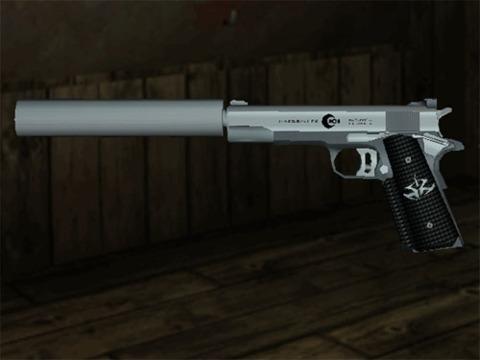 Hitman 2's Suppressed Silverballer