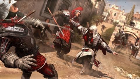 One of Ezio's many combat techniques.