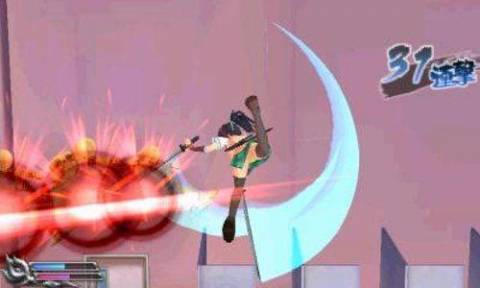 Asuka attacking