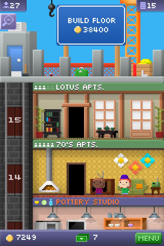 Building new floors is the main goal.
