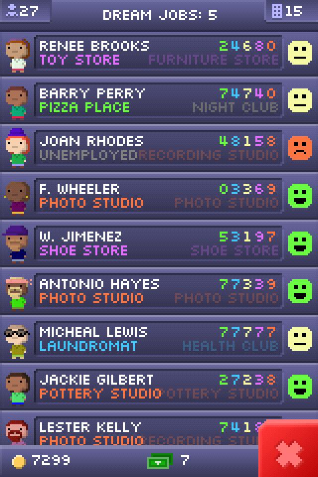 Bitizens stat screen