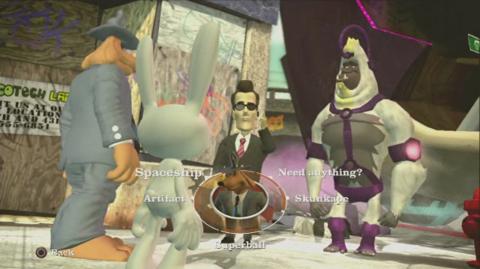 Sam, Max, Agent Superball, and Skunk-ape