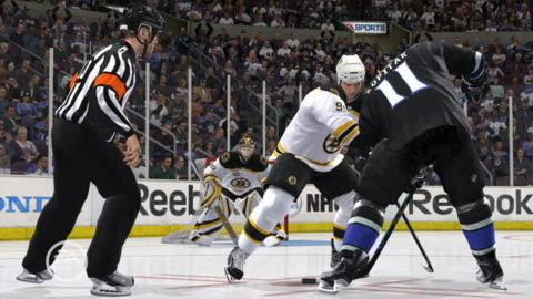 NHL 11's face-off system will not feature Nicolas Cage.