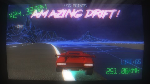 Such amazing drift I flew off the track