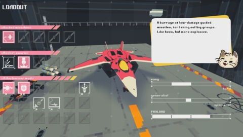 The upgrade screen in Jet Lancer