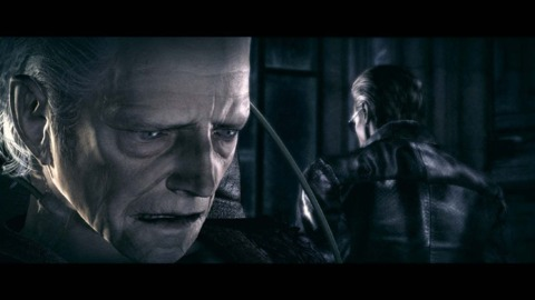 Spencer is confronted by Albert Wesker.