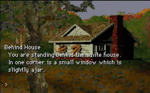 The white house, as originally introduced in Zork I