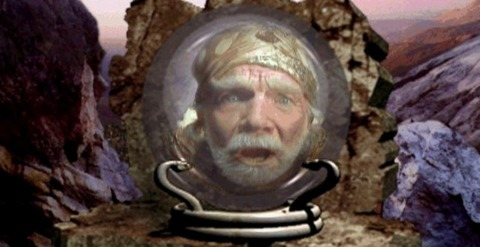 The Wizard Trembyle, within the Tele-orb