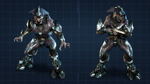 A Sangheili commander as they appear in Halo 4
